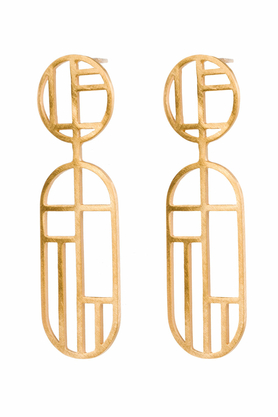 Kolczyki Flappers 13 złote PROJEKTANT FROU-FROU
