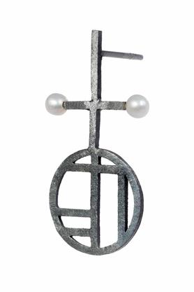 Kolczyki Flappers 3 srebrne PROJEKTANT FROU-FROU