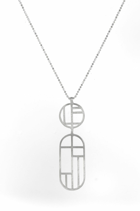 Naszyjnik Flappers 14 srebrny PROJEKTANT FROU-FROU