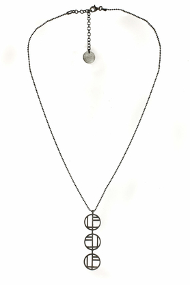 Naszyjnik Flappers 16 ciemne srebro PROJEKTANT FROU-FROU