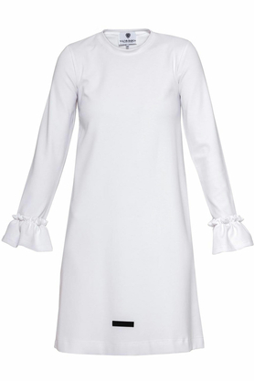 Sukienka falbany biała I PROJEKTANT Yuliya Babich
