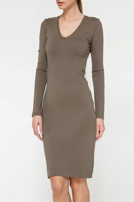 Sukienka khaki midi PROJEKTANT Yuliya Babich