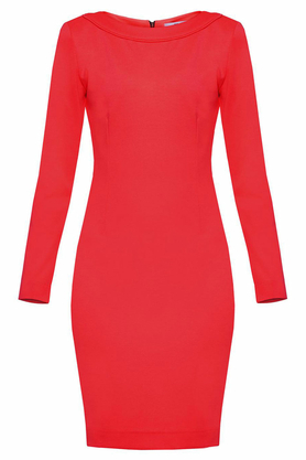 Sukienka midi ołówkowa czerwona PROJEKTANT Yuliya Babich