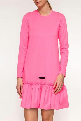 Sukienka różowa falbana PROJEKTANT Yuliya Babich