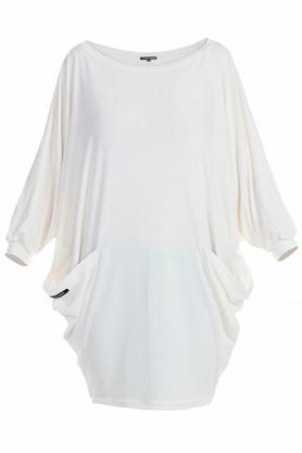 Sukienka z kieszeniami ecru PROJEKTANT Yuliya Babich