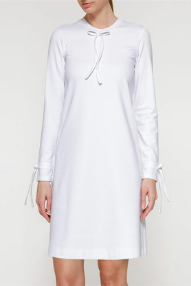 Sukienka z kokardkami biała PROJEKTANT Yuliya Babich