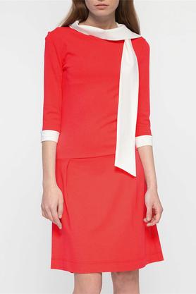 Sukienka z krawatem czerwona PROJEKTANT Yuliya Babich