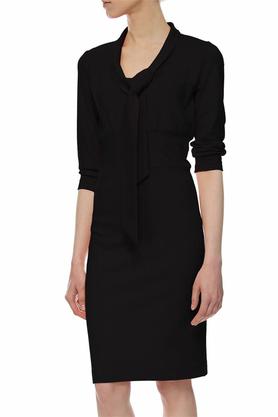 Sukienka z krawatką czarna PROJEKTANT Yuliya Babich
