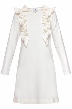 Sukienka z ozdobnym przodem ecru II PROJEKTANT Yuliya Babich