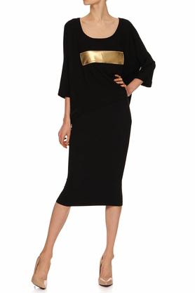 Bluzka czarna ze złotym pasem PROJEKTANT Yuliya Babich