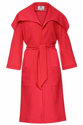 Płaszcz czerwony PROJEKTANT Yuliya Babich