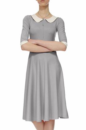 Sukienka z kołnierzykiem bebe szara II PROJEKTANT Yuliya Babich