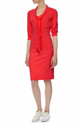 Sukienka z krawatką czerwona PROJEKTANT Yuliya Babich