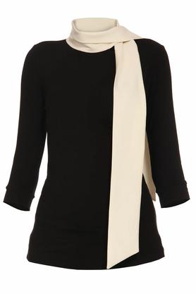 Bluzka czarna z białym krawatem PROJEKTANT Yuliya Babich