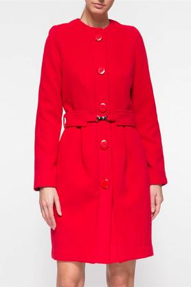 Płaszcz z paskiem czerwony PROJEKTANT Yuliya Babich