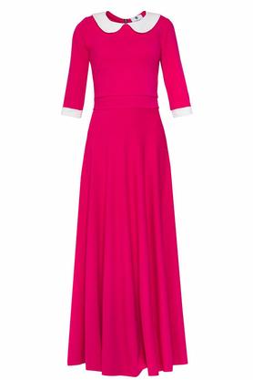 Sukienka długa z kołnierzykiem różowa PROJEKTANT Yuliya Babich