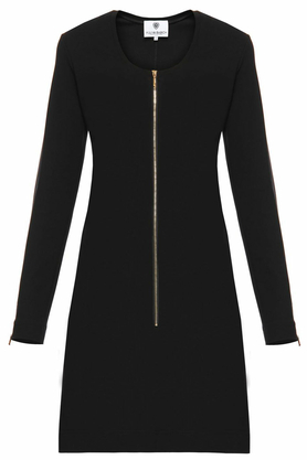 Sukienka dopasowana z suwakiem czarna PROJEKTANT Yuliya Babich
