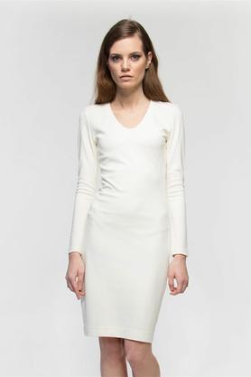 Sukienka ecru midi PROJEKTANT Yuliya Babich