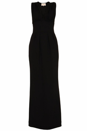 Sukienka z dekoltem V czarna PROJEKTANT Yuliya Babich