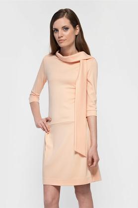Sukienka z krawatem łososiowa II PROJEKTANT Yuliya Babich