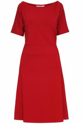 Sukienka z prostymi rękawami czerwona PROJEKTANT Yuliya Babich