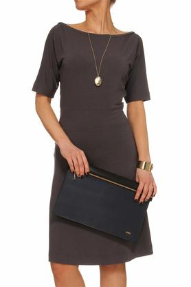 Sukienka z prostymi rękawami szara PROJEKTANT Yuliya Babich