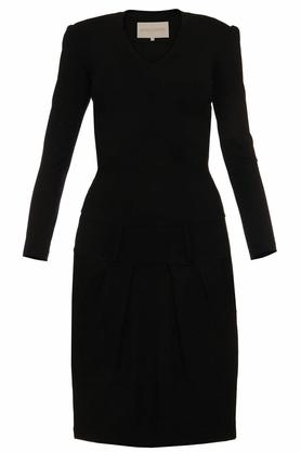 Sukienka z zakładkami czarna II PROJEKTANT Yuliya Babich