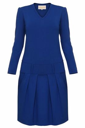 Sukienka z zakładkami niebieska PROJEKTANT Yuliya Babich