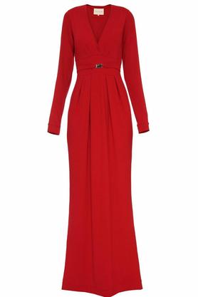 Suknia z paskiem czerwona PROJEKTANT Yuliya Babich