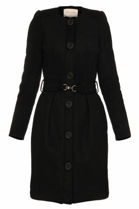 Płaszcz z paskiem czarny PROJEKTANT Yuliya Babich