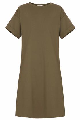 Sukienka luźna khaki PROJEKTANT Yuliya Babich