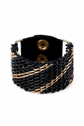 Bransoletka gruba czarno-złota III PROJEKTANT KOD