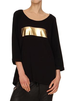 Bluza czarna ze złotym pasem PROJEKTANT Yuliya Babich