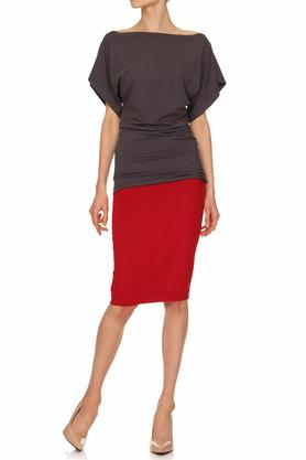 Spódnica czerwona ołówkowa PROJEKTANT Yuliya Babich