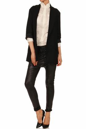 Spodnie połyskujące czarne II PROJEKTANT Yuliya Babich