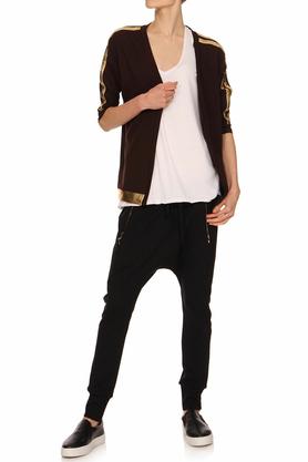 Spodnie z obniżonym krokiem czarne PROJEKTANT Yuliya Babich
