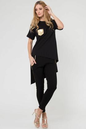 Spodnie ze złotymi lampasami czarne PROJEKTANT Yuliya Babich