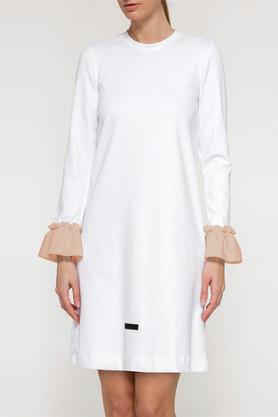 Sukienka falbany biała II PROJEKTANT Yuliya Babich