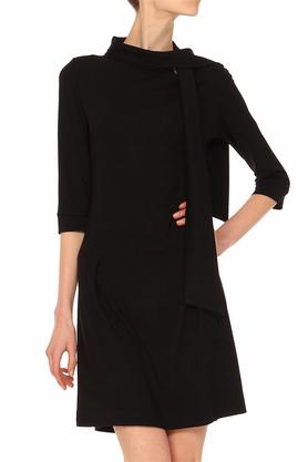 Sukienka z krawatem czarna PROJEKTANT Yuliya Babich