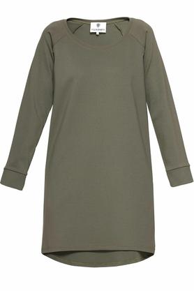 Bluza z dłuższym tyłem khaki PROJEKTANT Yuliya Babich