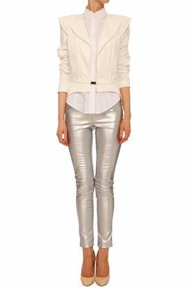 Spodnie srebrne I PROJEKTANT Yuliya Babich