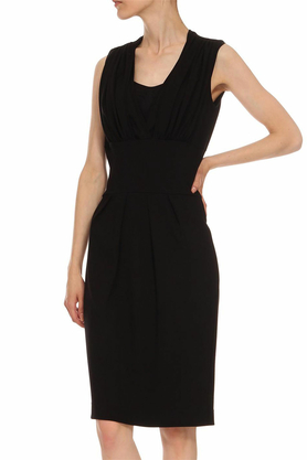 Sukienka odcięta pod biustem czarna PROJEKTANT Yuliya Babich