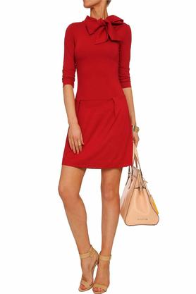 Sukienka z krawatem czerwona III PROJEKTANT Yuliya Babich
