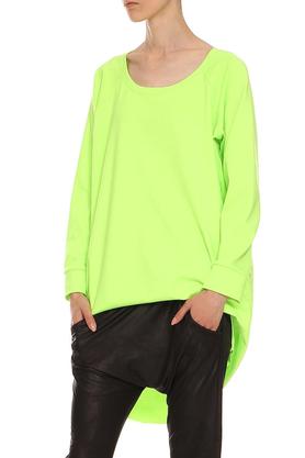 Bluza z dłuższym tyłem neonowozielona PROJEKTANT Yuliya Babich