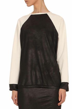 Bluza z rękawami ecru czarna PROJEKTANT Yuliya Babich