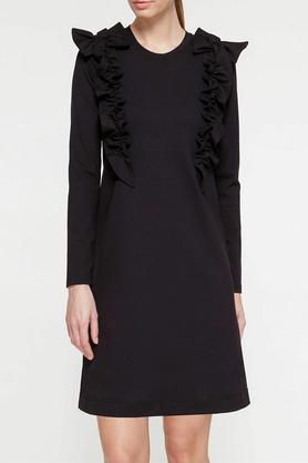 Sukienka z ozdobnym przodem czarna III PROJEKTANT Yuliya Babich