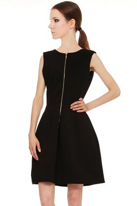 Sukienka klasyczna z zamkiem czarna PROJEKTANT Yuliya Babich