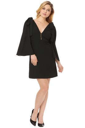 Sukienka z kokardkami czarna PROJEKTANT VerityHunt