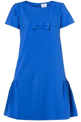 Sukienka z kokardą kobaltowa PROJEKTANT Yuliya Babich