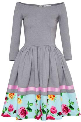 Sukienka Hiszpanka z Kwiatową Listwą PROJEKTANT Kasia Miciak